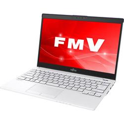 富士通(FUJITSU) モバイルノートPC LIFEBOOK UH55/C3 FMVU55C3LB ホワイトwithネイビー [Win10 Home・Core i3・13.3インチ・Office付き]