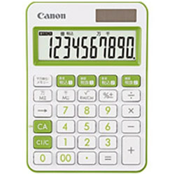 Canon(キヤノン) カラフル電卓(10桁) ミニ卓上 LS-105WUC-GR 【軽減税率対応】