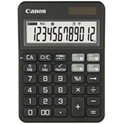 Canon(キヤノン) カラフル電卓(12桁) ミニ卓上 KS-125WUC-BK 【軽減税率対応】
