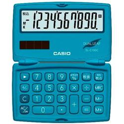 カラフル電卓(10桁) SL-C100C-BU-N レイクブルー