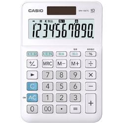 CASIO(カシオ) W税計算対応電卓 MW-100TC-WE-N ホワイト 【軽減税率対応】