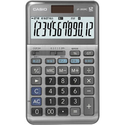 CASIO(カシオ) 軽減税率計算対応電卓 JF-200RC-N [W税率対応 /12桁] 【軽減税率対応】