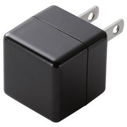 USB電源アダプタ CUBE 1A出力 USB1ポート MPA-ACUAN007XBK ブラック
