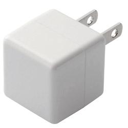 USB電源アダプタ CUBE 1A出力 USB1ポート MPA-ACUAN007XWH ホワイト