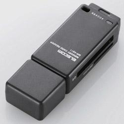 メモリリーダライタ/直挿しタイプ/SD系専用/ブラック MR-K011XBK