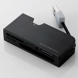 メモリリーダライタ/ケーブル収納/SD+MS+CF対応/ブラック MR-K013XBK