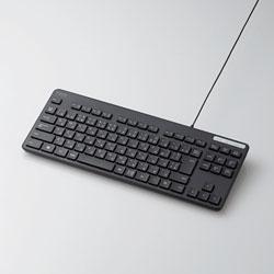 TK-FCM107XBK 有線キーボード 薄型コンパクトモデル [USB/メンブレン式/ブラック]