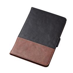iPad mini 2019 ソフトレザーカバー フリーアングル ツートン ブラック×ブラウン TB-A19SPLFDTBK ブラック×ブラウン