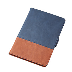 iPad mini 2019 ソフトレザーカバー フリーアングル ツートン ネイビー×ブラウン TB-A19SPLFDTNV ネイビー×ブラウン