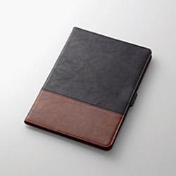 iPadAir2019/ソフトレザー/ツートン/ブラック TB-A19MPLFDTBK