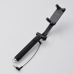 有線リモコン付自撮り棒/コンパクトタイプ/620mm/ブラック P-SSYGRBK