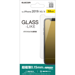 iPhone 11 Pro 5.8インチ用 ガラスライクフィルム 薄型 PM-A19BFLGL