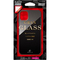 iPhone 11 6.1インチ対応 ハイブリッドケース ガラス エンボス レプタイル PM-A19CHVCG8D2
