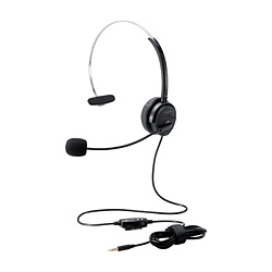 ELECOM(エレコム) ヘッドセット  ブラック HS-HP29TBK [φ3.5mmミニプラグ+USB /片耳 /ヘッドバンドタイプ]