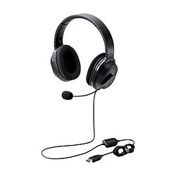 ELECOM(エレコム) ヘッドセット  ブラック HS-HP30UBK [USB /両耳 /ヘッドバンドタイプ]