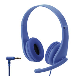 ELECOM(エレコム) ヘッドセット こども専用 ブルー HS-KD01TDBU [φ3.5mmミニプラグ /両耳 /ヘッドバンドタイプ]