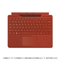 Microsoft(マイクロソフト) スリム ペン 2 付き Surface Pro Signature キーボード  ポピー レッド 8X6-00039