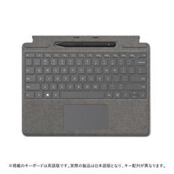 Microsoft(マイクロソフト) スリム ペン 2 付き Surface Pro Signature キーボード  プラチナ 8X6-00079