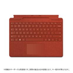 Microsoft(マイクロソフト) Surface Pro Signature キーボード  ポピー レッド 8XA-00039