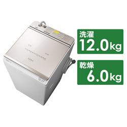縦型洗濯乾燥機 ビートウォッシュ シャンパン BW-DKX120F-N [洗濯12.0kg /乾燥6.0kg /ヒーター乾燥(水冷・除湿タイプ) /上開き] 【買い替え5000pt】