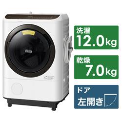 HITACHI(日立) ドラム式洗濯機 ビッグドラム ホワイト BD-NBK120FL-W [洗濯12.0kg /乾燥7.0kg /ヒーター乾燥 /左開き] 【買い替え20000pt】