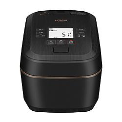 HITACHI(日立) 炊飯器 圧力&スチーム ふっくら御膳 漆黒 RZ-W100EM-K [5.5合 /圧力IH]