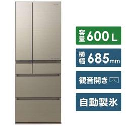 Panasonic(パナソニック) 【基本設置料金セット】 冷蔵庫 HPXタイプ アルベロゴールド NR-F607HPX-N [6ドア /観音開きタイプ /600L]