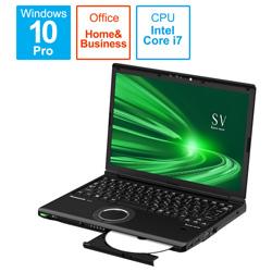 ノートパソコン レッツノート SVシリーズ(LTE) ブラック CF-SV1DFNQR [12.1型 /intel Core i7 /SSD:512GB /メモリ:16GB /2021年1月モデル]