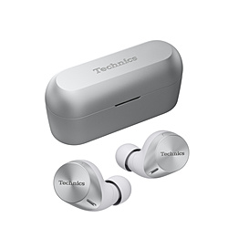 TECHNICS フルワイヤレスイヤホン  シルバー EAH-AZ60-S [リモコン・マイク対応 /ワイヤレス(左右分離) /Bluetooth /ハイレゾ対応 /ノイズキャンセリング対応]