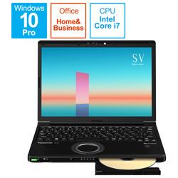 ノートパソコン レッツノート SVシリーズ ブラック CF-SV1GDUQR [12.1型 /intel Core i7 /メモリ:16GB /SSD:256GB /2021年6月モデル]