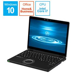 Panasonic(パナソニック) ノートパソコン CF-QV8PFNQR ブラック [12.0型 /intel Core i7 /SSD:512GB /メモリ:8GB /2020年01月モデル]