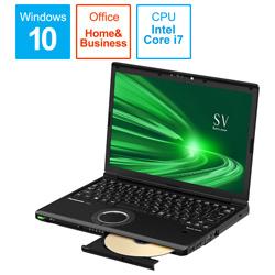 ノートパソコン レッツノート SVシリーズ ブラック CF-SV9KDUQR [12.1型 /intel Core i7 /SSD:256GB /メモリ:8GB /2020年6月モデル]