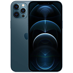 【SIMフリー】iPhone 12 Pro Max A14 Bionic 6.7型 ストレージ:128GB デュアルSIM(nano-SIMとeSIM) MGCX3J/A パシフィックブルー