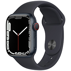 Apple(アップル) Apple Watch Series 7(GPS+Cellularモデル)- 41mmミッドナイトアルミニウムケースとミッドナイトスポーツバンド - レギュラー   MKHQ3J/A ※発売日以降お届け