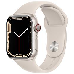 Apple(アップル) Apple Watch Series 7(GPS+Cellularモデル)- 41mmスターライトアルミニウムケースとスターライトスポーツバンド - レギュラー   MKHR3J/A ※発売日以降お届け