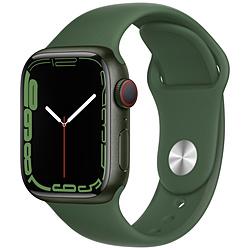 Apple(アップル) Apple Watch Series 7(GPS+Cellularモデル)- 41mmグリーンアルミニウムケースとクローバースポーツバンド - レギュラー   MKHT3J/A ※発売日以降お届け