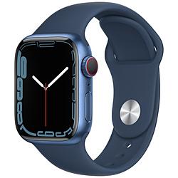 Apple(アップル) Apple Watch Series 7(GPS+Cellularモデル)- 41mmブルーアルミニウムケースとアビスブルースポーツバンド - レギュラー   MKHU3J/A ※発売日以降お届け