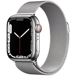 Apple(アップル) Apple Watch Series 7(GPS+Cellularモデル)- 41mmシルバーステンレススチールケースとシルバーミラネーゼループ   MKHX3J/A ※発売日以降お届け