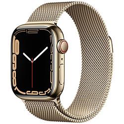 Apple(アップル) Apple Watch Series 7(GPS+Cellularモデル)- 41mmゴールドステンレススチールケースとゴールドミラネーゼループ   MKJ03J/A ※発売日以降お届け