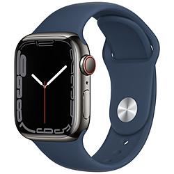 Apple(アップル) Apple Watch Series 7(GPS+Cellularモデル)- 41mmグラファイトステンレススチールケースとアビスブルースポーツバンド - レギュラー   MKJ13J/A ※発売日以降お届け