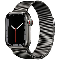 Apple(アップル) Apple Watch Series 7(GPS+Cellularモデル)- 41mmグラファイトステンレススチールケースとグラファイトミラネーゼループ   MKJ23J/A ※発売日以降お届け