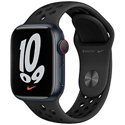 Apple(アップル) Apple Watch Nike Series 7(GPS+Cellularモデル)- 41mmミッドナイトアルミニウムケースとアンスラサイト/ブラックNikeスポーツバンド - レギュラー   MKJ43J/A ※発売日以降お届け