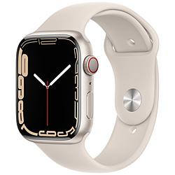 Apple(アップル) Apple Watch Series 7(GPS+Cellularモデル)- 45mmスターライトアルミニウムケースとスターライトスポーツバンド - レギュラー   MKJQ3J/A ※発売日以降お届け
