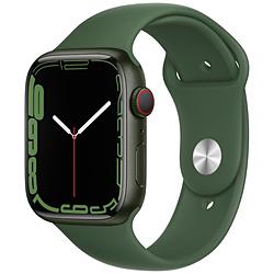 Apple(アップル) Apple Watch Series 7(GPS+Cellularモデル)- 45mmグリーンアルミニウムケースとクローバースポーツバンド - レギュラー   MKJR3J/A ※発売日以降お届け