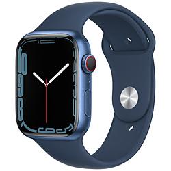 Apple(アップル) Apple Watch Series 7(GPS+Cellularモデル)- 45mmブルーアルミニウムケースとアビスブルースポーツバンド - レギュラー   MKJT3J/A ※発売日以降お届け