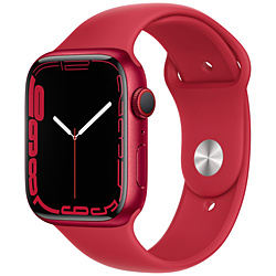 Apple(アップル) Apple Watch Series 7(GPS+Cellularモデル)- 45mm(PRODUCT)REDアルミニウムケースと(PRODUCT)REDスポーツバンド - レギュラー   MKJU3J/A ※発売日以降お届け