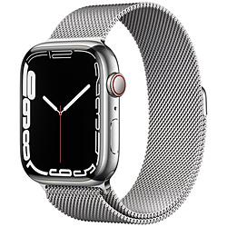 Apple(アップル) Apple Watch Series 7(GPS+Cellularモデル)- 45mmシルバーステンレススチールケースとシルバーミラネーゼループ   MKJW3J/A ※発売日以降お届け