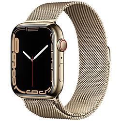Apple(アップル) Apple Watch Series 7(GPS+Cellularモデル)- 45mmゴールドステンレススチールケースとゴールドミラネーゼループ   MKJY3J/A ※発売日以降お届け