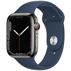 Apple(アップル) Apple Watch Series 7(GPS+Cellularモデル)- 45mmグラファイトステンレススチールケースとアビスブルースポーツバンド - レギュラー   MKL23J/A ※発売日以降お届け