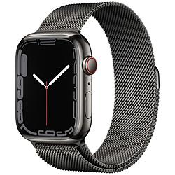 Apple(アップル) Apple Watch Series 7(GPS+Cellularモデル)- 45mmグラファイトステンレススチールケースとグラファイトミラネーゼループ   MKL33J/A ※発売日以降お届け